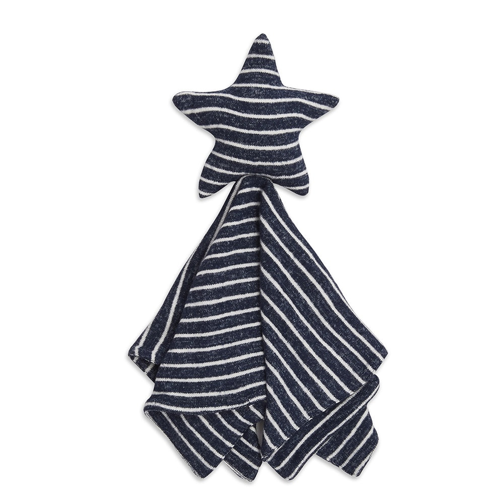 aden + anais | Snuggle Knit Lovey Toy Comfort Blanket in Navy Blue Stripe