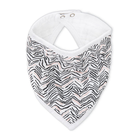 aden + anais | Classic Cotton Muslin Bandana Bib White Label in Pacific Paradise