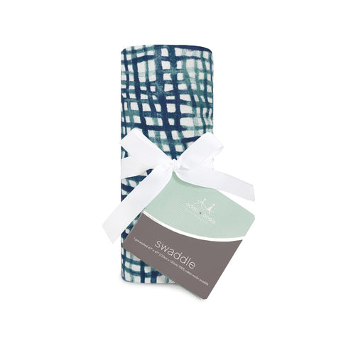 aden + anais | Silky Soft Swaddle Single in Seaport Net