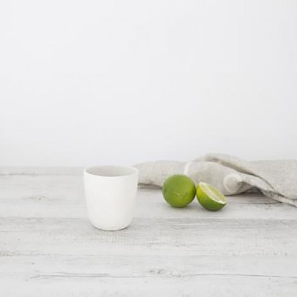 Ivory House | Flax Ceramic Short Coffee Cup in Snow White