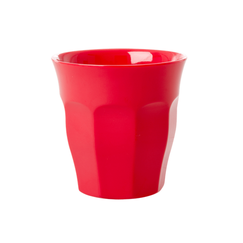 Rice | Solid Coloured Medium Melamine Cup in Red Kiss