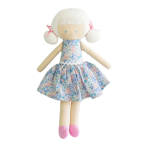Alimrose Designs | Large Audrey Doll in Liberty Blue Print