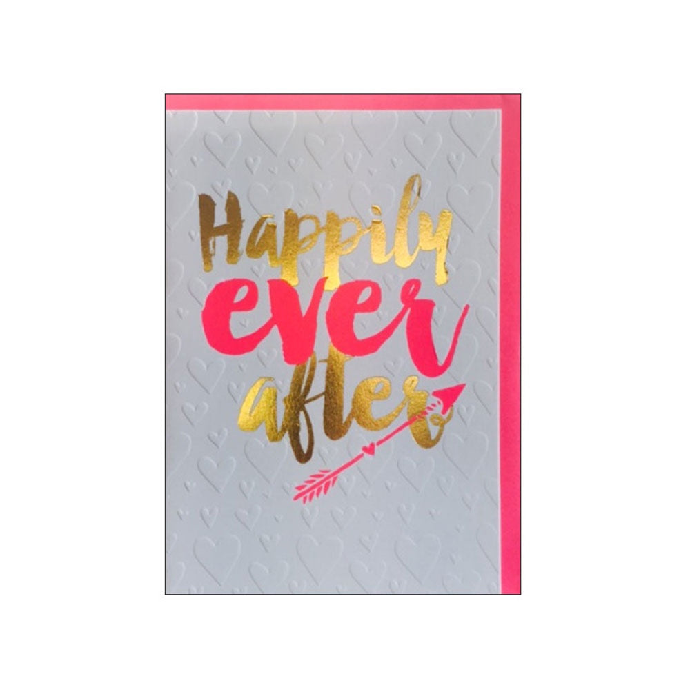 Candle Bark Creations |  Happily Ever After Wedding Gold Foil Gift Card