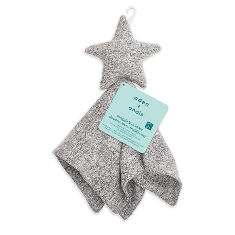 aden + anais | Snuggle Knit Lovey Toy Comfort Blanket in Heather Grey