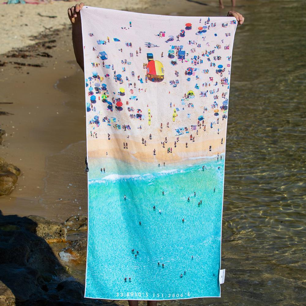 Destination Towels | Sand Free Lightweight Beach Yoga Towel - Aussie Summer