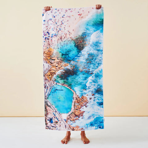 Destination Towels | Sand Free Lightweight Beach Yoga Towel - Bronte Icons, Bronte Beach, Sydney, Australia