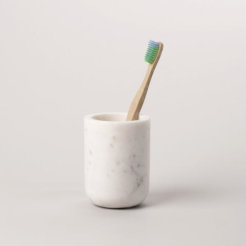 123home | White Marble Cylindrical Vase