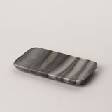 123home | Dark Grey Rectangular Marble Soap Dish Serving Tray