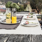 Raine & Humble | Manor Stripe Tablecloth in Charcoal