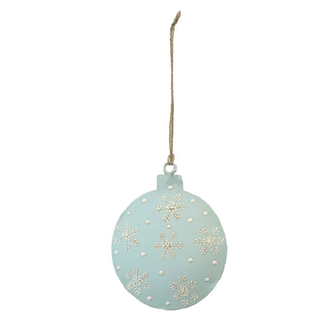 123home Henna Bauble Christmas Decoration Ornament in Sky Blue