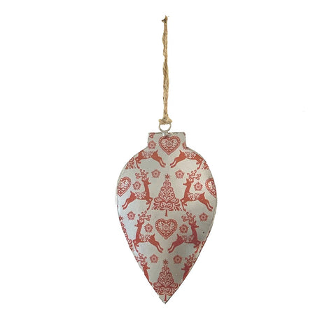 123home | Iron Drop Christmas Decoration Ornament in Red Tree