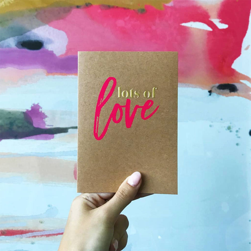 Candle Bark Creations |  Love Gold Foil Gift Card