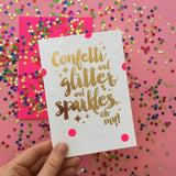 Candle Bark Creations | Oh My! Celebration Gold Foil Gift Card