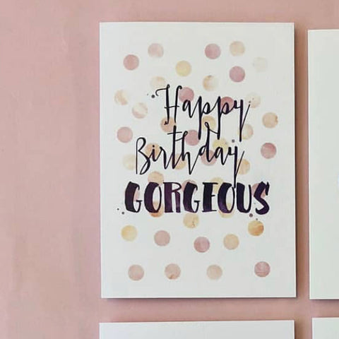 Candle Bark Creations | Gorgeous Birthday Watercolour Gift Card