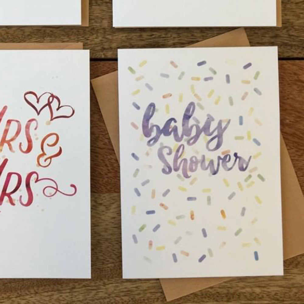 Candle Bark Creations | Baby Shower Watercolour Gift Card