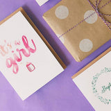Candle Bark Creations | Pink Bundle of Joy Watercolour Gift Card