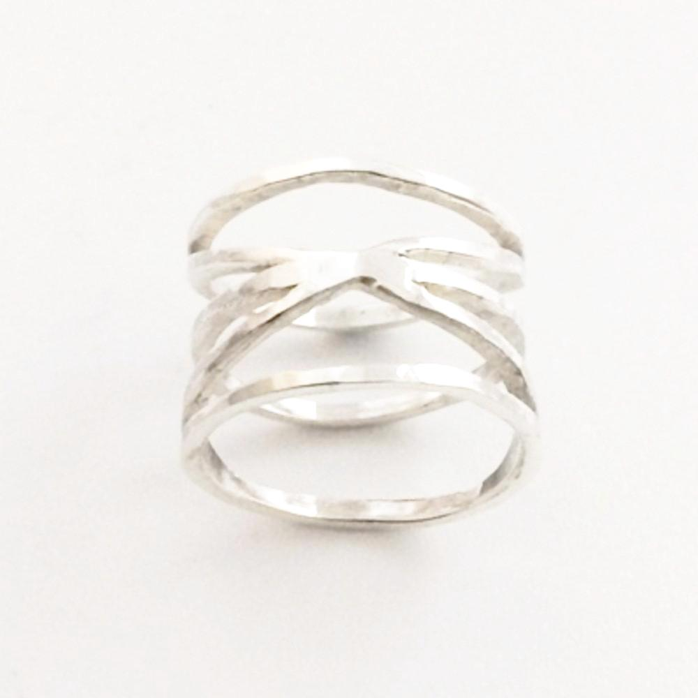 123home | Sterling Silver Tangled Ring