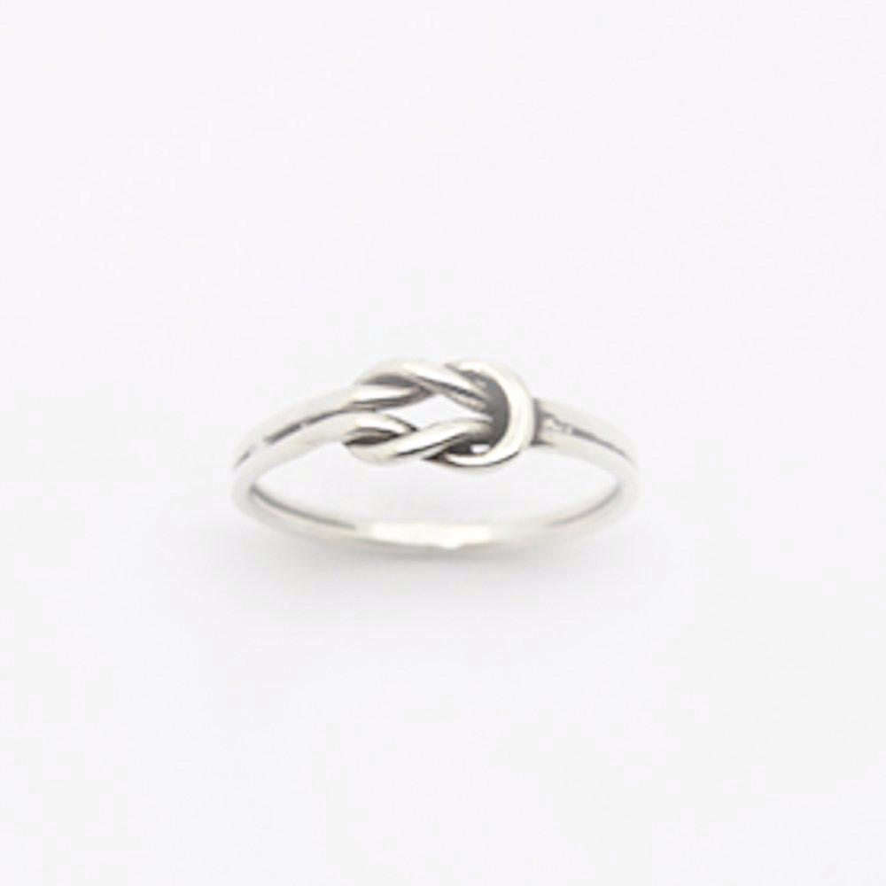 123home | Sterling Silver Love Knot Ring