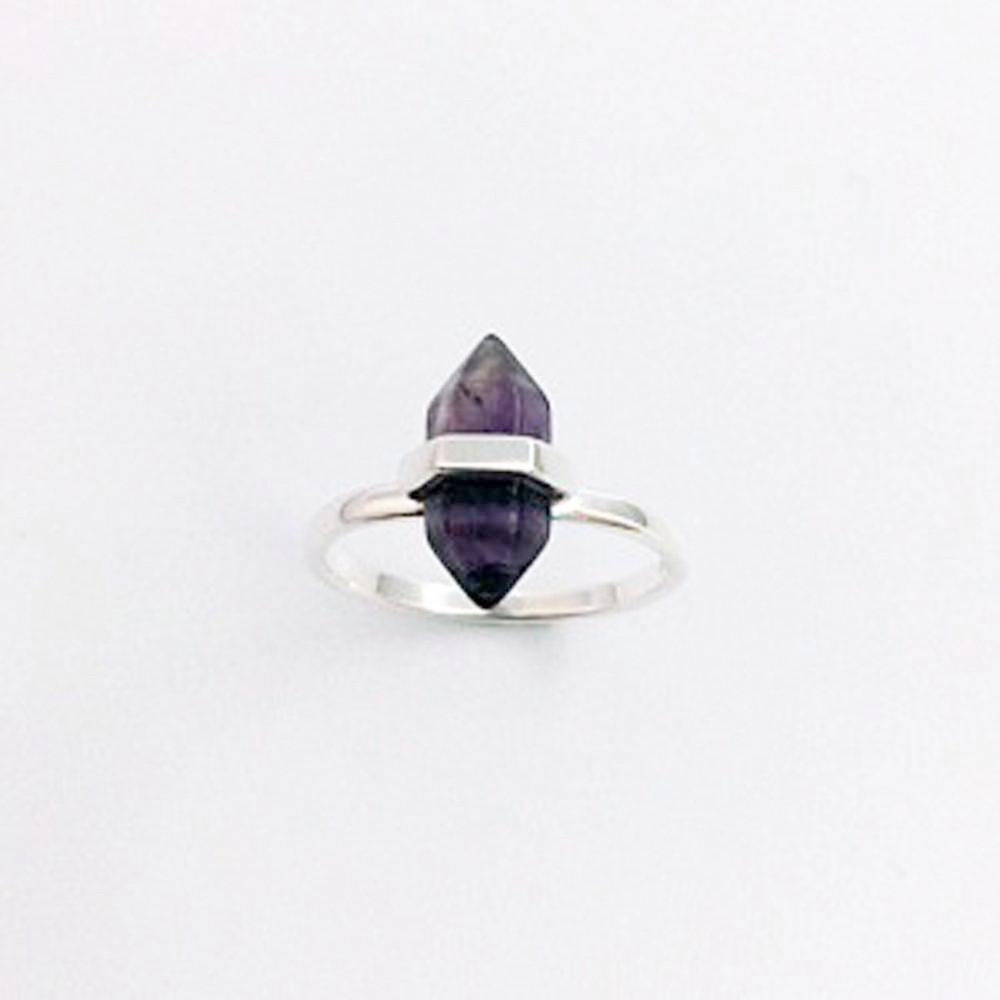 123home | Sterling Silver (925) Amethyst Crystal Ring