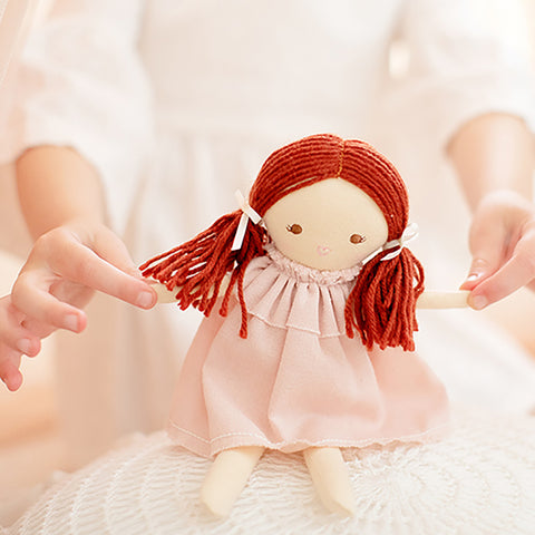 Alimrose Designs | Mini Matilda Doll in Pink Linen