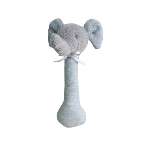 Alimrose Designs | Elephant Stick Rattle Toy in Grey Linen