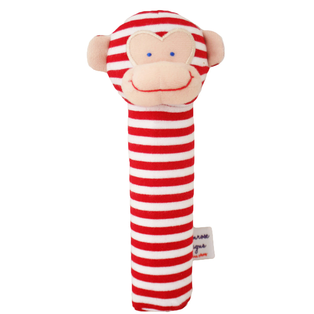 Alimrose | Monkey Squeaker in Red Stripe