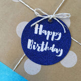 Candle Bark Creations | Navy Birthday Glitter Gift Tag