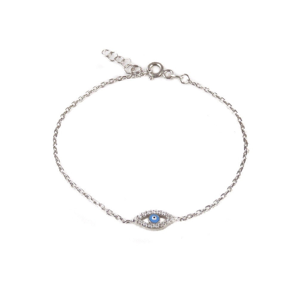 123home | Evil Eye Bracelet Sterling Silver
