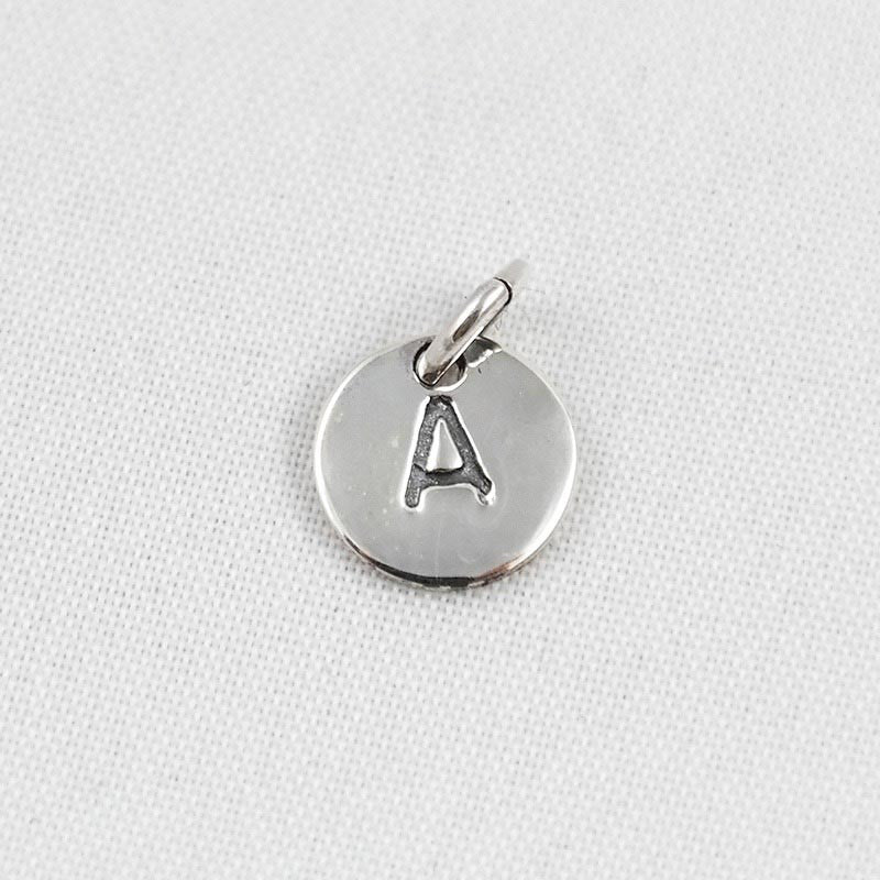 123home | Sterling Silver Alphabet Pendant A