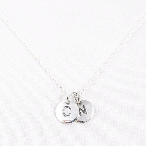 123home | Sterling Silver Alphabet Pendants