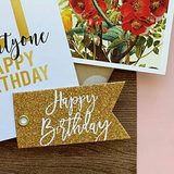 Candle Bark Creations | Happy Birthday Glitter Gift Tag