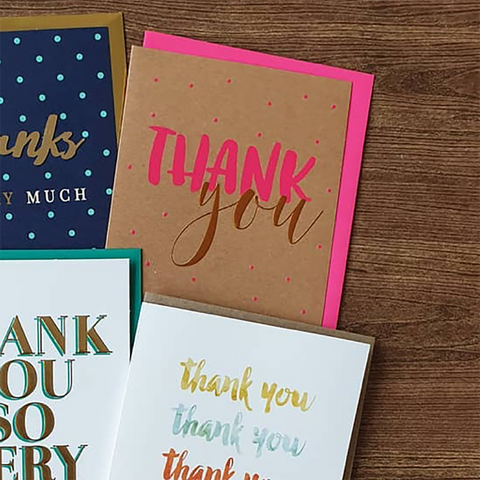 Candle Bark Creations | Thank You Copper Foil Gift Card