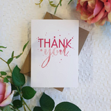 Candle Bark Creations | Pink Thank You Watercolour Gift Card