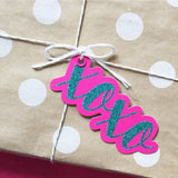 Candle Bark Creations | XOXO Glitter Gift Tag