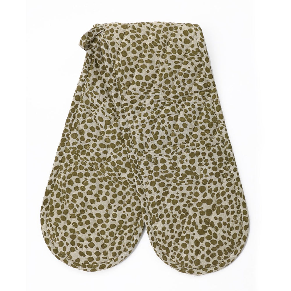 Raine & Humble | Double Oven Glove Mitt in Khaki Green