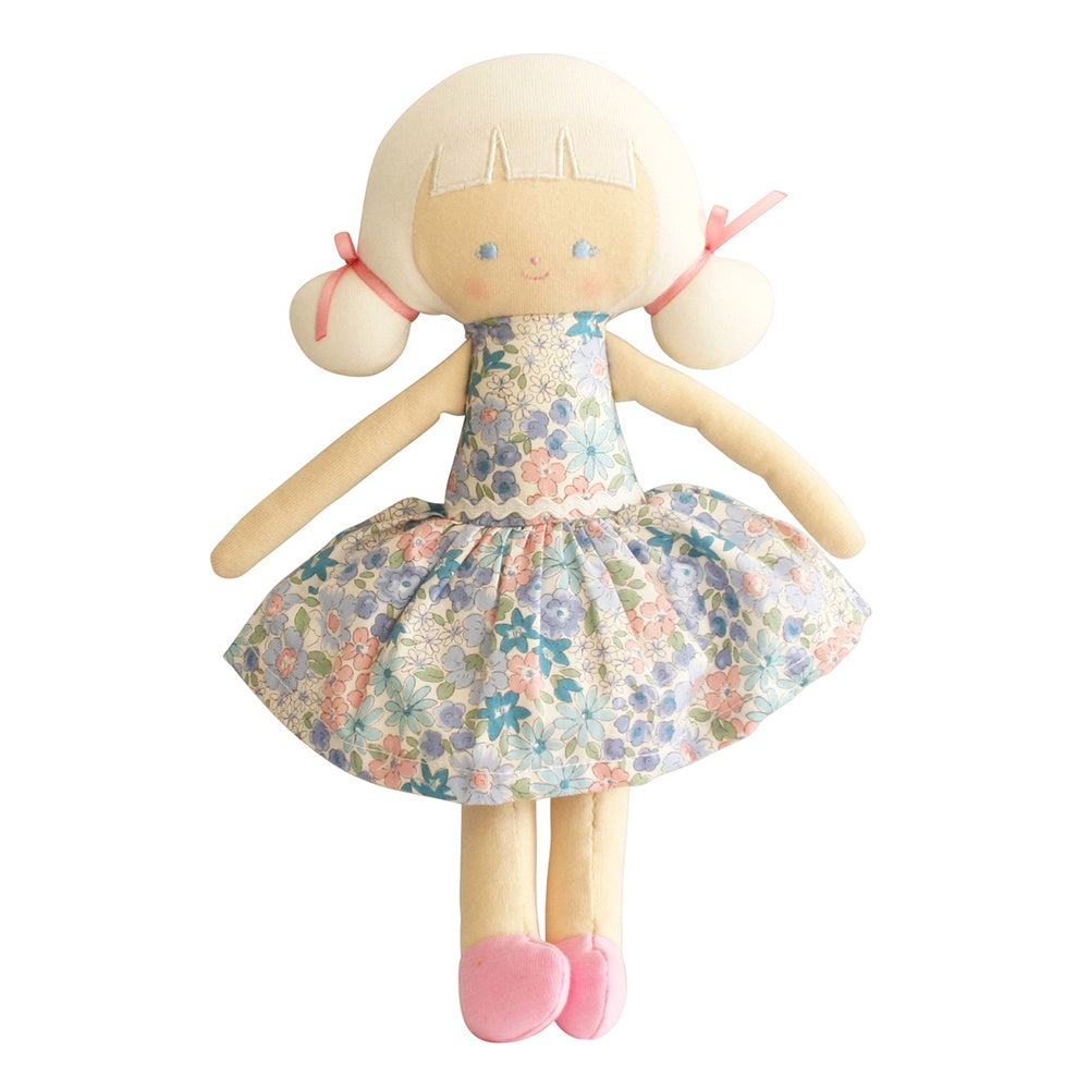 Alimrose Designs | Audrey Blonde Doll in Floral Liberty Blue