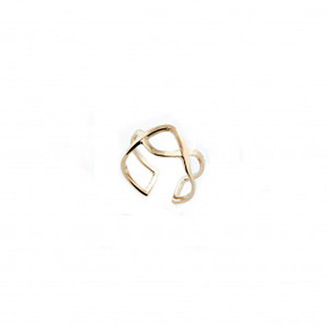 123home | Sterling Silver (925) Gold Plated Twisted Ear Cuff