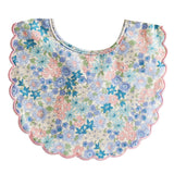 Alimrose | Scallop Edge Baby Bib in Floral Liberty Blue