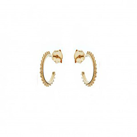 123home | Sterling Silver (925) Gold Plated Studded Mini Hoop Earrings