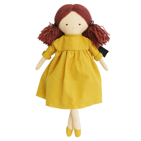 Alimrose Designs | Matilda Doll in Butterscotch Yellow Dress