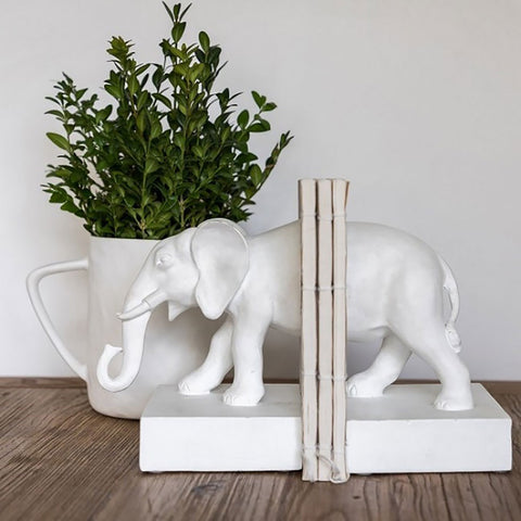 Ivory House | White Elephant Bookends