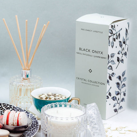 Mrs. Darcy | Crystal Collection Diffuser Black Onyx: Neroli & Ylang