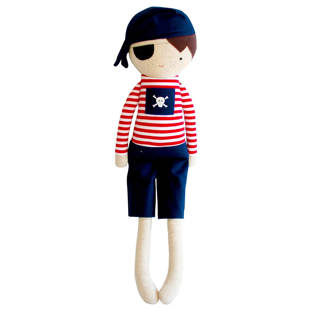 Alimrose | Linen Pirate Boy Doll in Navy