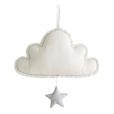 Alimrose Designs | White Cloud Musical Mobile with Star