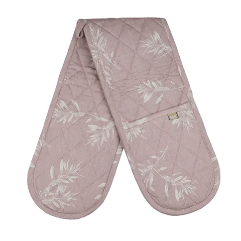 Raine & Humble | Olive Grove Double Oven Glove in Mushroom Pink