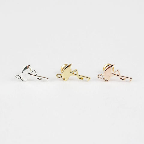 sophari | Flamingo Stud Earrings in silver, 18k gold & rose gold plated