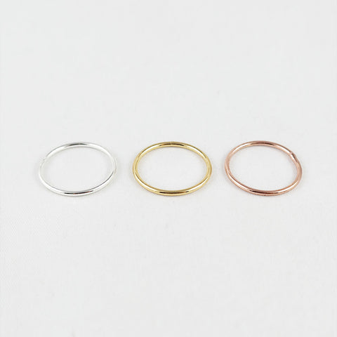 sophari | Thin stackable ring in silver, 18k gold or rose gold plated
