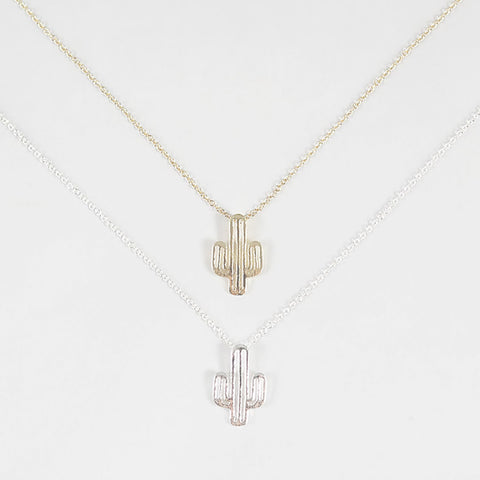 sophari | Cactus Necklace in silver or 18k gold plated