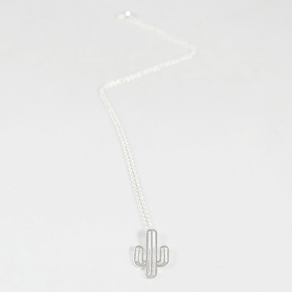 sophari | Cactus Necklace in silver plated