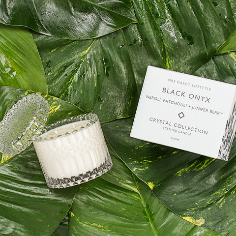 Mrs. Darcy | Crystal Collection Candle Black Onyx: Neroli + Ylang